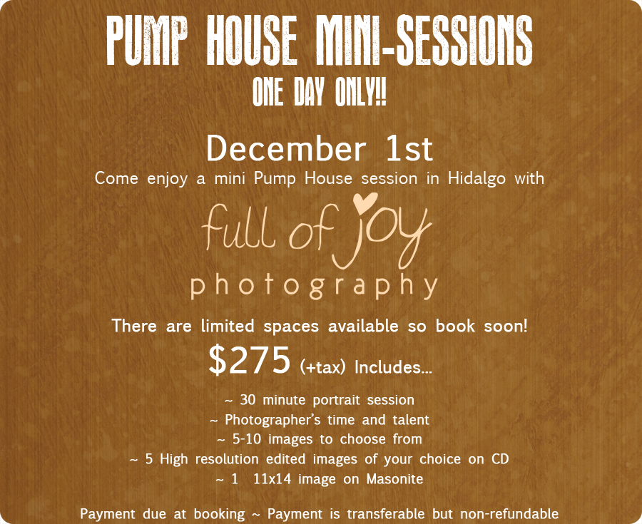 Hidalgo Pump House Mini Sessions